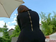 After a short walk along the country house Madlin Moon gets excited dick in her ass 4