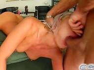 Wild Bea Stiel perceives pure pleasure when brazen men ruthlessly plow her throat 5
