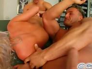 Wild Bea Stiel perceives pure pleasure when brazen men ruthlessly plow her throat 7