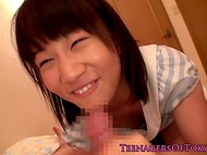 Curious chap comes upstairs to see cheerful teeny with mischievous tongue 8