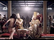 Episode from 'Goltzius and the Pelican Company' movie with Kate Moran starring half naked priestess