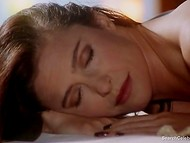 Passionate scene with nude actress Mimi Rogers from 'Full Body Massage' movie 10