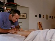Passionate scene with nude actress Mimi Rogers from 'Full Body Massage' movie 3
