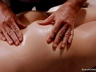 Passionate scene with nude actress Mimi Rogers from 'Full Body Massage' movie 7