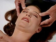 Passionate scene with nude actress Mimi Rogers from 'Full Body Massage' movie 8