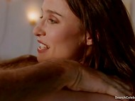 Passionate scene with nude actress Mimi Rogers from 'Full Body Massage' movie 9