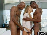 At the last moment, Carter Cruise asked black guy to take his close friend for a threesome action 4