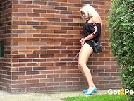 Compilation of cuties peeing in the most unexpected public places in the awesome