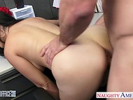 Busy employee distracted from work for memorable sex with Holly West on the colleagues birthday 6