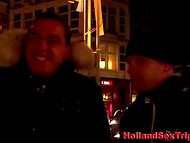 Night walk over Amsterdam finished with blowjob by hooker in the local brothel 7