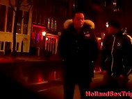 Night walk over Amsterdam finished with blowjob by hooker in the local brothel 8