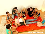 Teenagers found a blanket with Kamasutra poses and didn't hesitate to try some of them 4