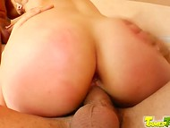Blonde whore is skilled enough to deal with two strong dicks simultaneously 7