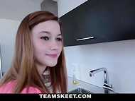 Flawless doll washes the dishes and gets really embarrassed when comes dude with camera 5