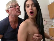 Long-haired Rosalina gets ass penetrated making old man with glasses happy 6