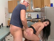 Long-haired Rosalina gets ass penetrated making old man with glasses happy 7