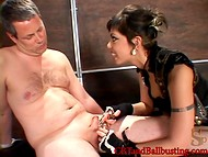 Inventive catwoman stretched obedient dude's dick and caressed his body with claws 6