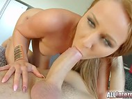 Seductive Angel Blade with juicy butt got vagina penetrated and creampied 7