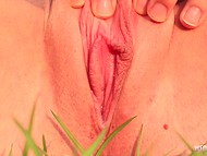 Teenage dolly bird with slim body invents different ways to stimulate smooth vagina 4