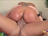 Big-tittied Asian Ava Devine with luxurious buttocks anal screwed after deepthroat blowjob 6