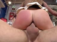 Nimble whore in fishnet bodystocking was fucked by Rocco Siffredi and his black friend 5