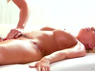 Oiled Britney Amber and big-boobied British Tanya Tate had plenty of time to play on the massage table 4