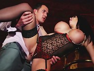 Buddy was alone with breathtaking dancer Emily B in sexy outfit and nailed her in the midst of the club 7