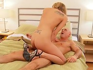 Bald man fucked cute Lexxxi Lowe and covered her flat belly with layer of cum 5