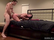 After blowjob energetic mate hammers beauty Alison Tyler in doggystyle and cowgirl positions 3