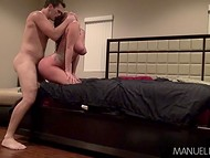 After blowjob energetic mate hammers beauty Alison Tyler in doggystyle and cowgirl positions 4