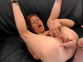 Interview with redhead MILF turns into hard pounding