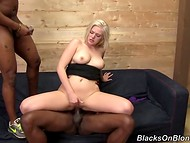 White whore Jenna Ivory sucked and took black comrades' schlongs in smooth gap 9