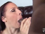 Big-tittied Gianna Michaels with long hair gets blacked without regrets in front of her husband 4