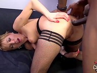 Bald fucker easily made short-haired MILF's dreams about huge shaft come true