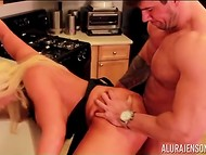 Kitchen was the best place which busty cougar and muscular stallion could find to bang 10