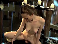 Medieval executioner with mask had mercy on pale-skinned Scarlett Fay in exchange for hot fuck 4