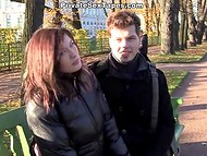 Young Russian couple returned home and had nice fuck after short walk in the park 4