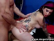 Emo Joanna Angel actively fucked in the White House by two naughty civil servants 7