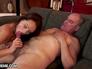 Fortune smiles on middle-aged ugly man and he gets possibility to fuck skinny nympho is sexy lingerie 10