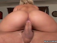 Bootylicious Alexis Texas and Sarah Vandella share mutual fucker's venous cock 4