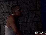 Latin stud hid behind the fence to tie up and own helpless babe Anya Olsen 4