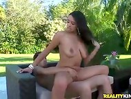 Dude wants to aerate his boner and fucked babe's pierced cunny outdoors 11