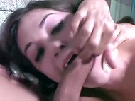 Videotape with former pornstar Sasha Grey showing her unprecedented deepthroat ocksucking skills 6
