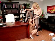 Lusty Latina is having fun with her mature playful boss during free from work time 5