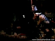 Great vintage porn video featuring teen girls fucked by farmers in the dark barn 8