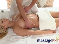 Two scenes in which muscular masseur skillfully satisfies requests of lusty clients 8
