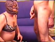 Bisexual homemade scene featuring adult madam, fucker, and man in female clothing 7
