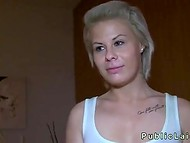 White-haired Czech agreed to suck and fuck on camera after making sure she will get money 5