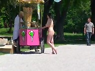 Shameless dames make people look surprised walking naked around the city 6