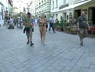 People were surprised and took pictures with white-haired shameless minx who was walking naked 3